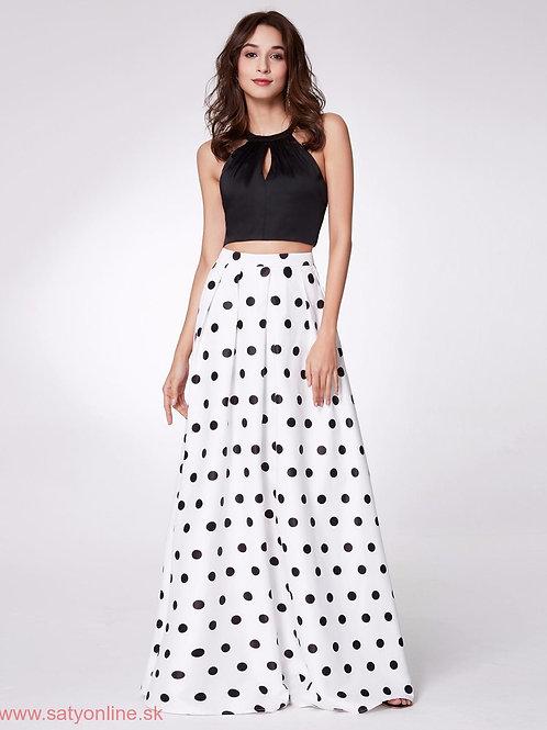 Čierny top+ bodkovaná sukňa 7217 SKLADOM