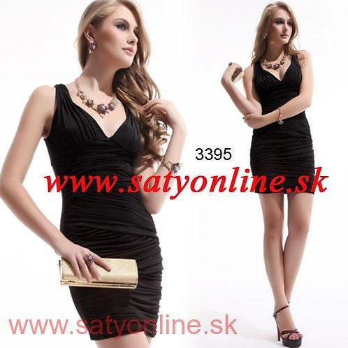 Čierne krátke šaty 9935 SKLADOM