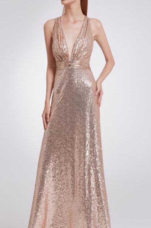 Spoločenské šaty 7109 ROSE GOLD