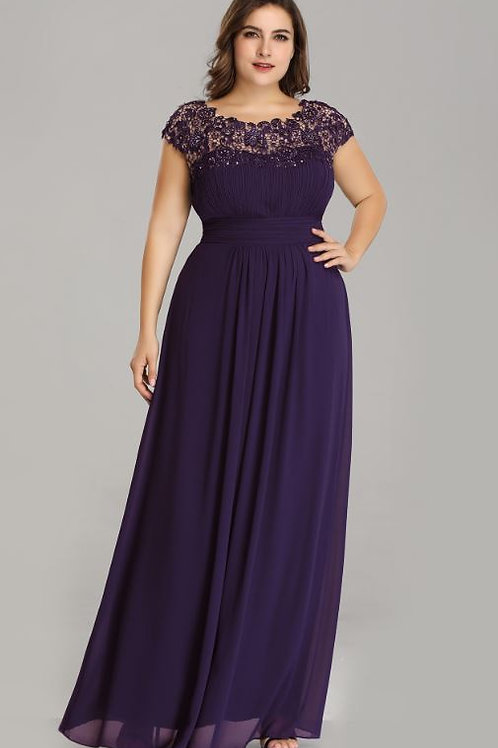 Fialové spoločenské šaty 9993