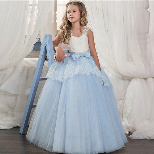 krajkové dievčenské šaty s Mašľou