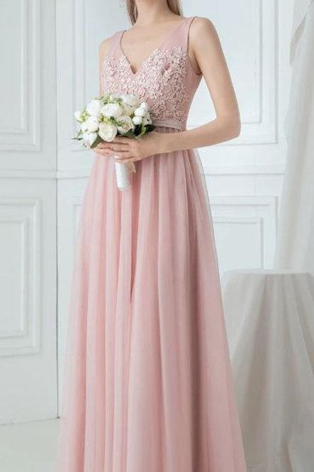 Ružové spoločenské šaty 0760