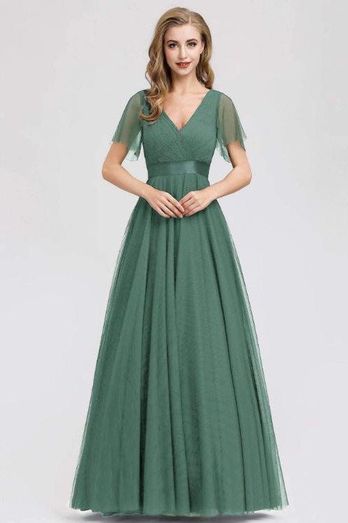 Spoločenské šaty Dusty Green 7962