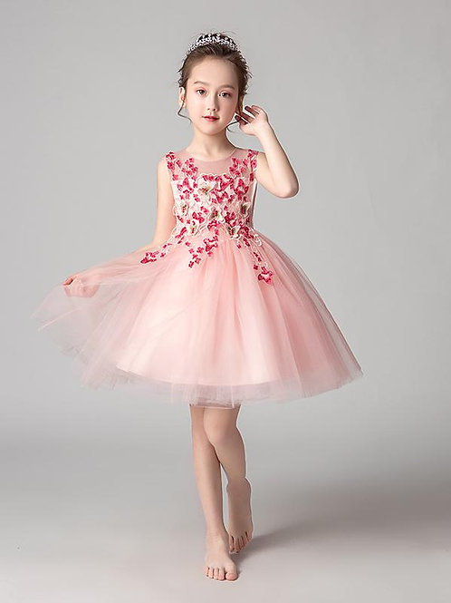 Ružové dievčenské šaty EP