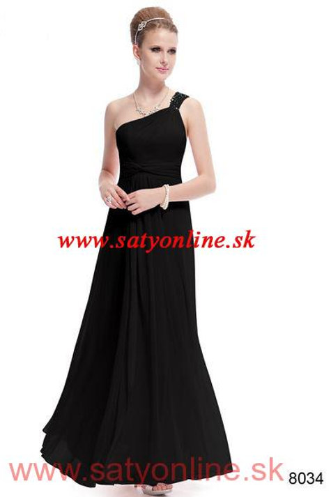 Čierne spoločenské šaty 8034 SKLADOM