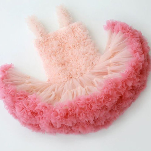 Marhuľkovo Coral Fluffy DOLLY Šaty