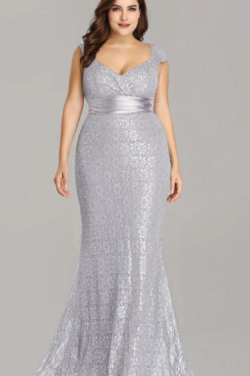Strieborné krajkové šaty 8798
