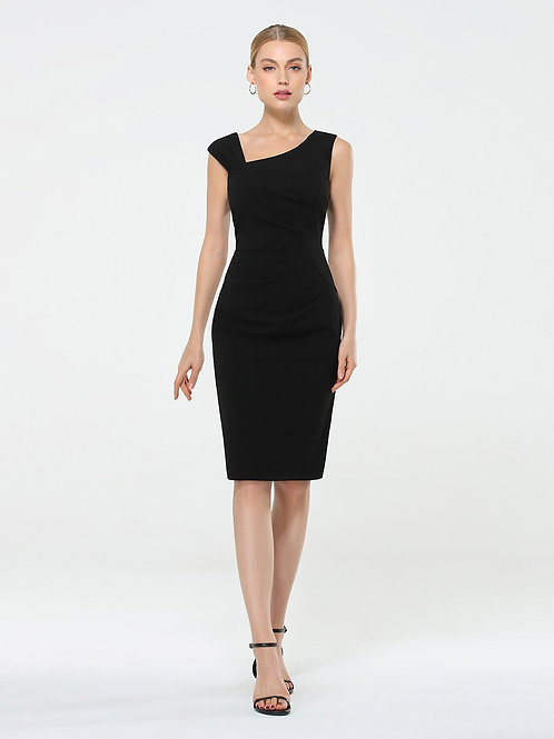 Čierne pohodlné krátke šaty
