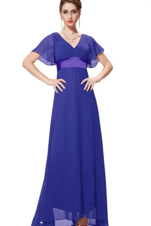 Spoločenské  šaty  Modré 9890 SKLADOM