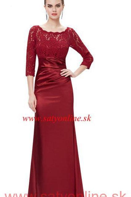 Bordové  šaty 9882 SKLADOM