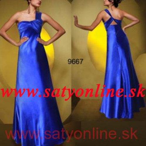 Modré šaty 9667 SKLADOM