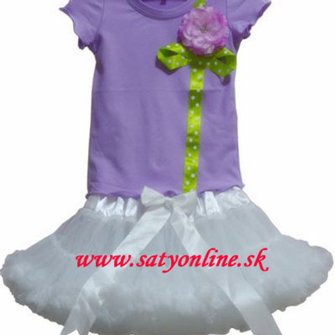 Fialovo biely Flower Dolly SET