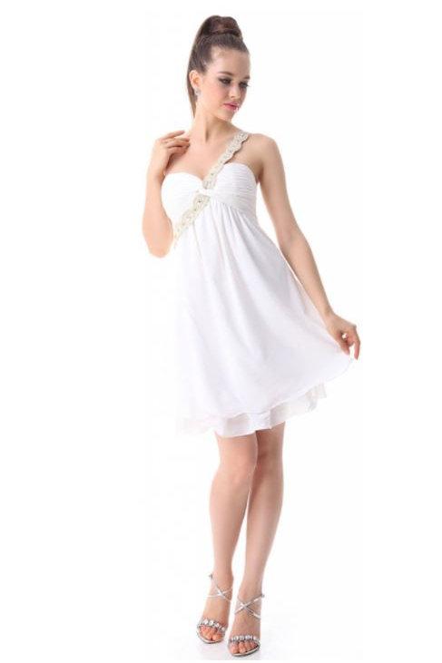 Biele krátke šaty 3321 SKLADOM