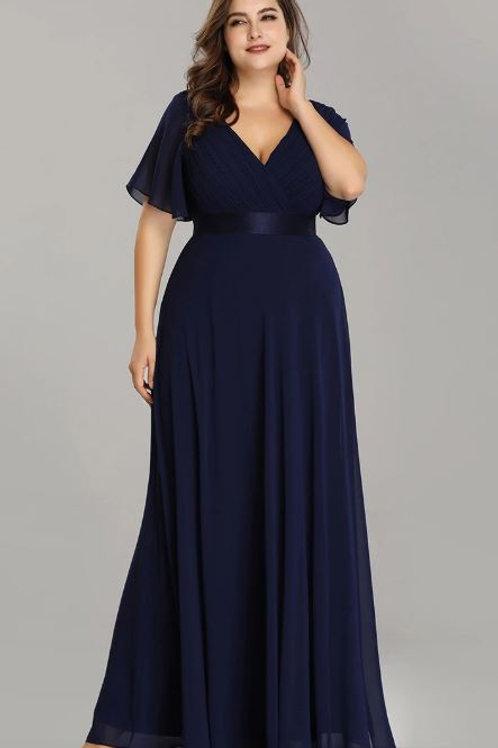 Tmavo modré Spoločenské  šaty 9890