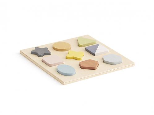 Kids Concept Puzzle Drevené Geometrické Tvary