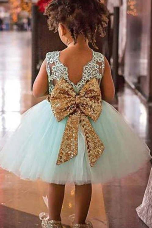 Mint Krajkové Dievčenské Šaty