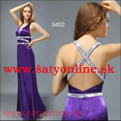 Fialové sexi šaty 9452 SKLADOM