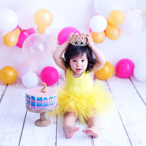 Žlté baby TUTU šaty