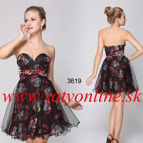 Vzorovane krátke šaty 3619 SKLADOM