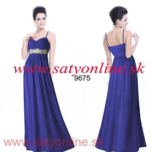 Modré Spoločenské šaty šaty 9675 SKLADOM