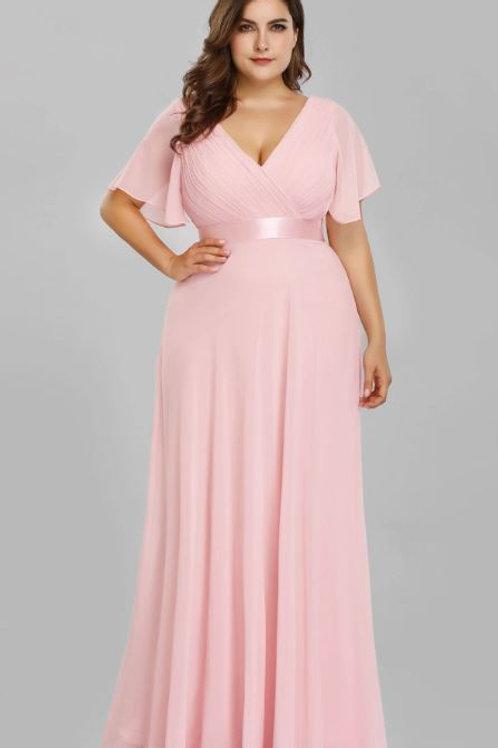 Ružové Spoločenské  šaty 9890