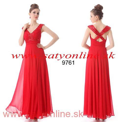 Červene spoločenské šaty9761 SKLADOM