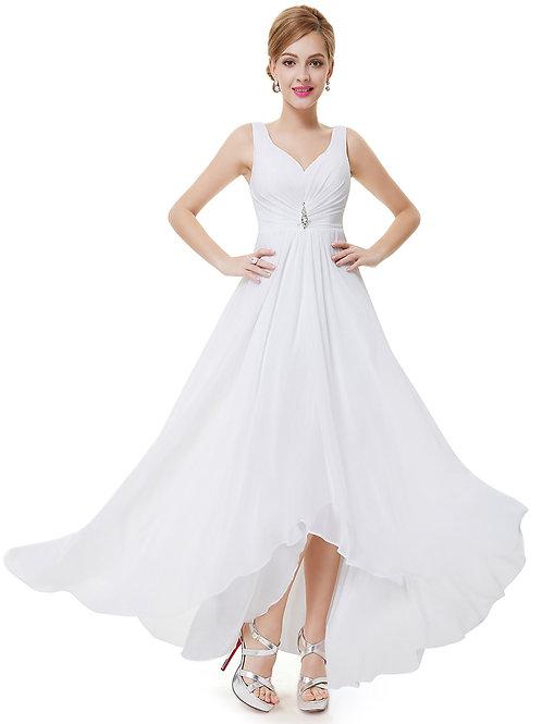 Biele svadobné spoločenské šaty 9983 SKLADOM