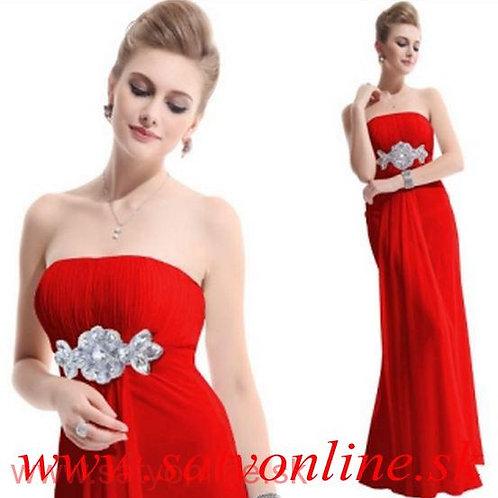 Červene šaty 9652 SKLADOM