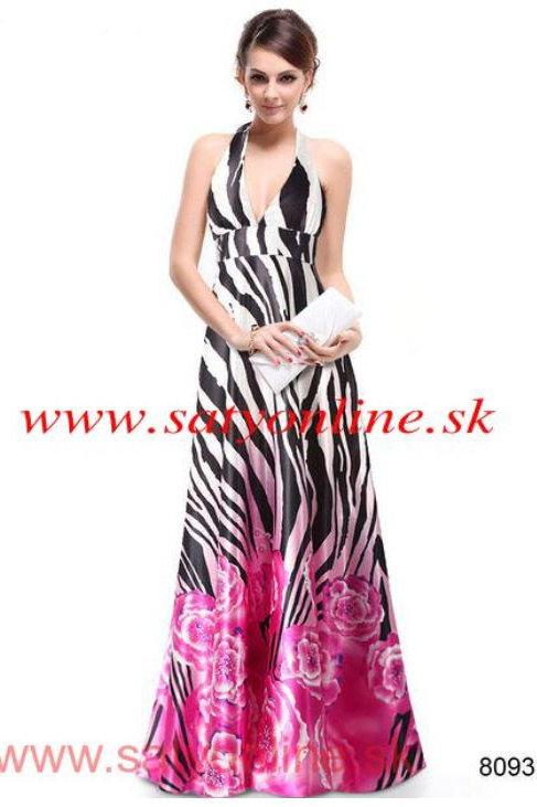 Vzorované spoločenské šaty 8093 SKLADOM