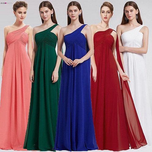 Zelené šaty na jedno rameno 9816 SKLADOM