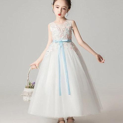 Biele dievčenské šaty EP003