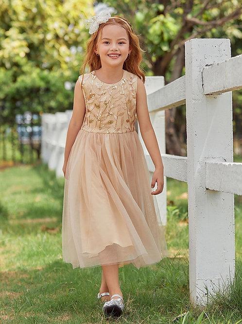Zlaté dievčenské šaty EP