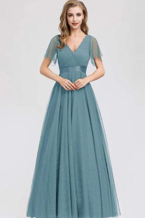 Spoločenské šaty Dusty Blue 7962