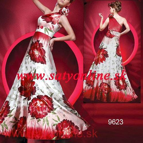 Vzorované šaty 9623 SKLADOM