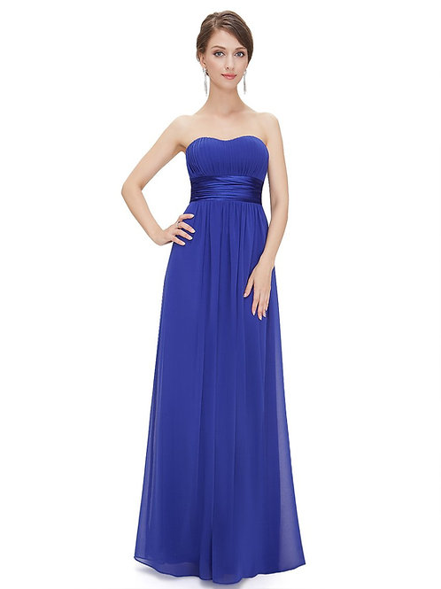 Spoločenské šaty modre 9955 SKLADOM