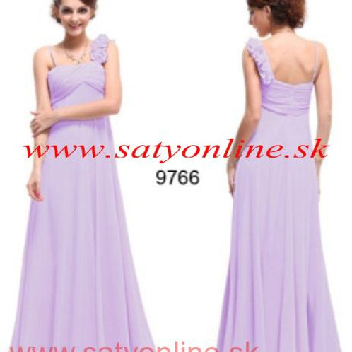 Fialové šaty na jedno rameno 9677 SKLADOM