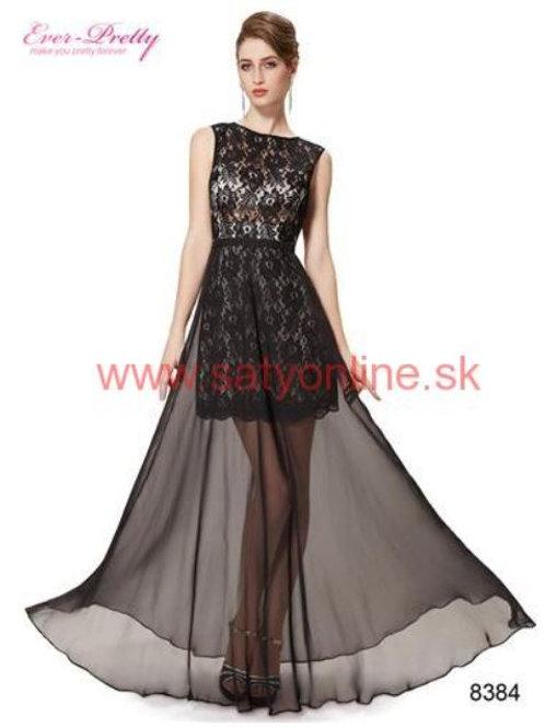 Čierne krajkove šaty 8384 SKLADOM
