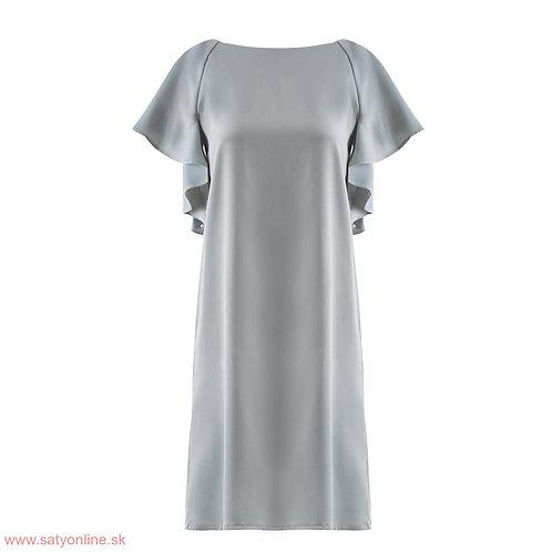 Sivé krátke šaty 13049 SKLADOM