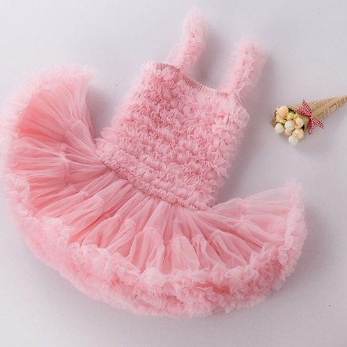 Ružové Fluffy DOLLY Šaty