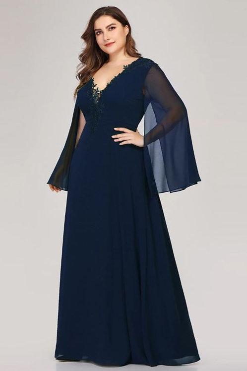 Tmavo modré šaty MOLETKA 7948