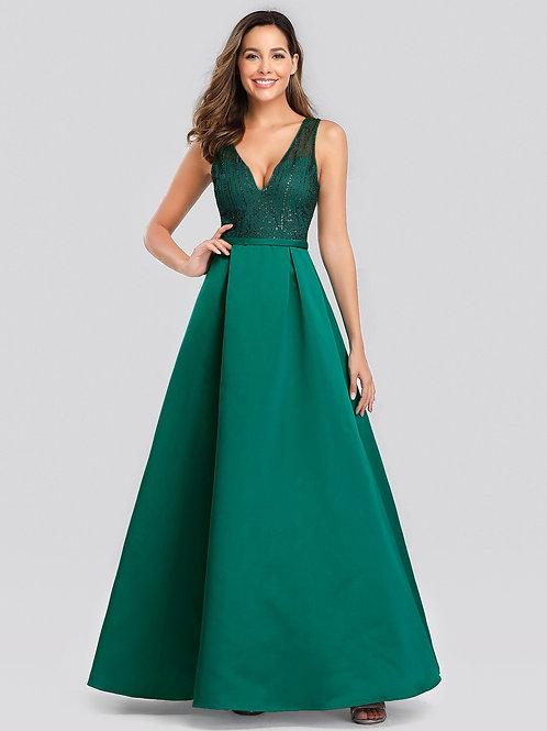 Zelene spoločenské šaty 0839