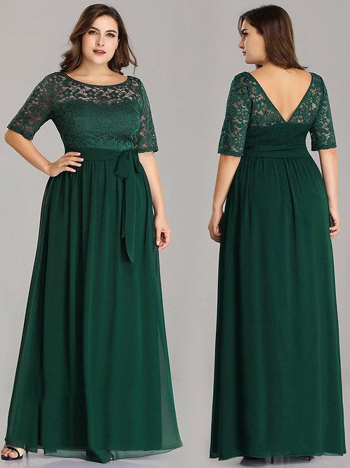 Zelené spoločenské šaty 7624