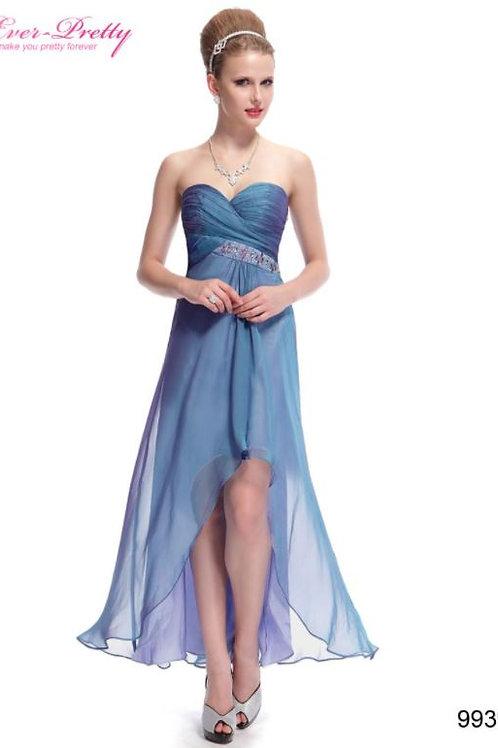 Spoločenské šaty Dusty Blue 9939 SKLADOM