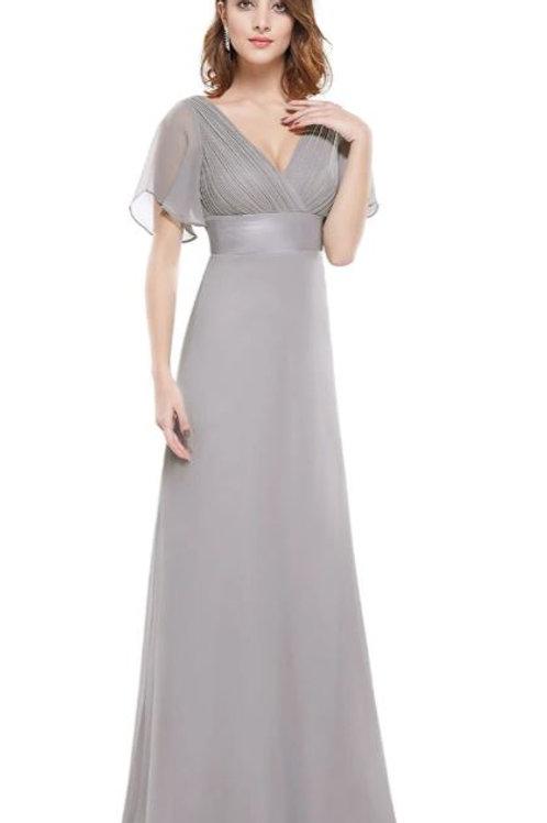 Sivé Spoločenské  šaty  9890