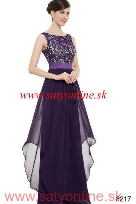 Fialové krajkové šaty 8217