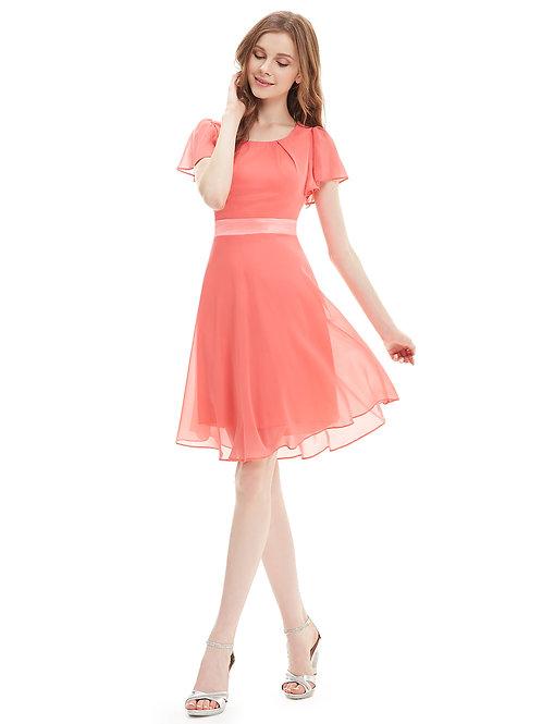 Lososove šaty 3990 SKLADOM
