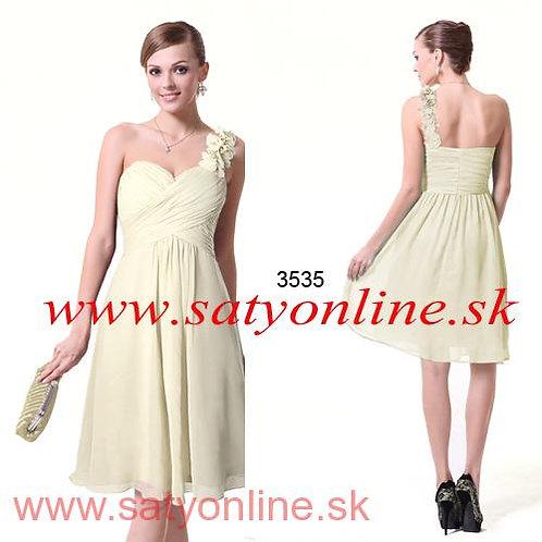 Maslové krátke šaty 3535 SKLADOM