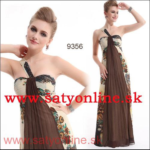 Hnedé vzorované šaty 9356 SKLADOM