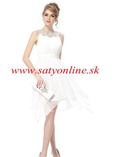 Biele krátke šaty 5002 SKLADOM