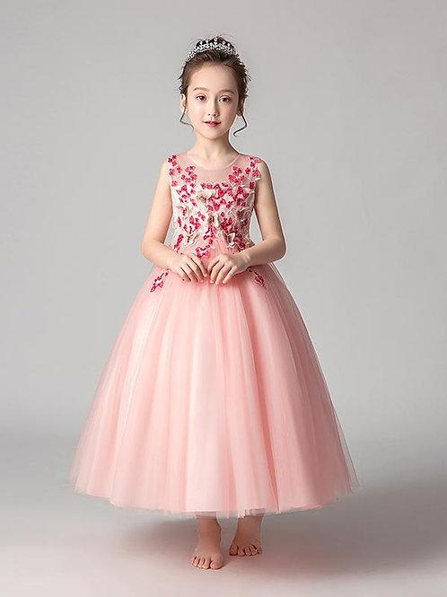 Ružové dievčenské šaty